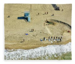 Santa Monica Beach 2 Fleece Blanket