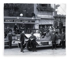 Santa Monica Firemen 1920 Fleece Blanket