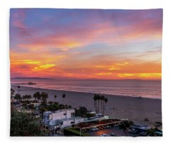 Santa Monica Pier Sunset - 11.1.18  Fleece Blanket
