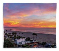 Santa Monica Pier Sunset - 11.1.18  Fleece Blanket