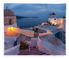Santorini Fleece Blanket