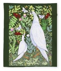 Sapientes Pacis Birds Fleece Blanket