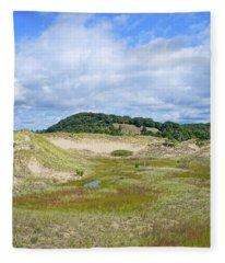 Saugatuck Harbor Interdunal Landscape Fleece Blanket