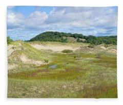 Saugatuck Harbor Interdunal Wetland Fleece Blanket