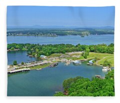 Saunders Marina, Smith Mountain Lake, Va. Fleece Blanket