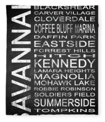 Savannah Ga 5 Fleece Blanket