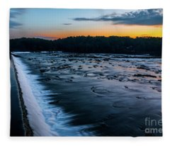 Savannah Rapids Sunrise - Augusta Ga Fleece Blanket