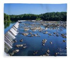 Savannah River Rapids - Augusta Ga 2 Fleece Blanket