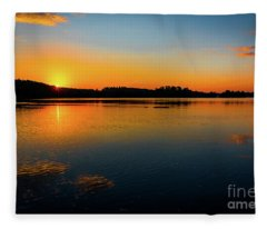 Savannah River Sunrise - Augusta Ga Fleece Blanket