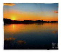 Savannah River Sunrise - Augusta Ga Fleece Blanket