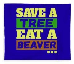 Save A Tree Fleece Blanket