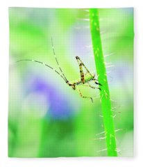 Say Hello To My Little Green Insect Friend Fleece Blanket