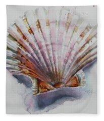 Scallop Seashell Fleece Blanket