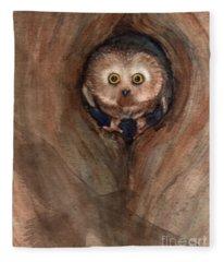 Scardy Owl Fleece Blanket