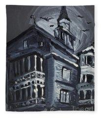 Scary Old House Fleece Blanket