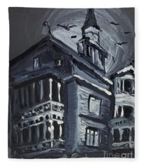 Scary Old House Fleece Blanket