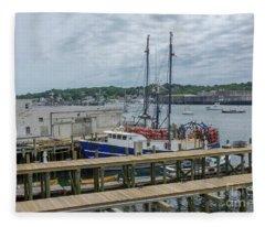 Scenic Harbor Fleece Blanket