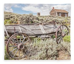 Schoolhouse On A Hill Fleece Blanket