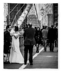 Scottish Wedding Couple Fleece Blanket