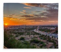 Scottsdale Sunset Fleece Blanket