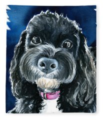 Scout - Cavoodle Dog Painting Fleece Blanket