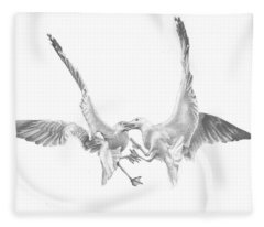 Sea-gulls Fleece Blanket