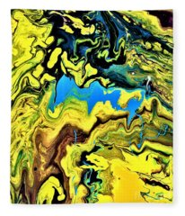 Sea Of Gold  Fleece Blanket