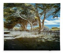Sea Ranch Coastline Fleece Blanket