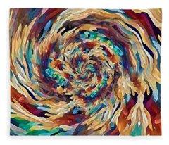 Sea Salad Swirl Fleece Blanket