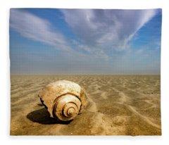 Sea Shell Fleece Blanket