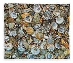 Sea Shells Fleece Blanket