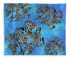 Sea Zebra Dragon 4 Fleece Blanket