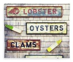 Seafood Signs Fleece Blanket