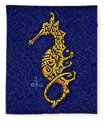 Seahorse Disco Fleece Blanket
