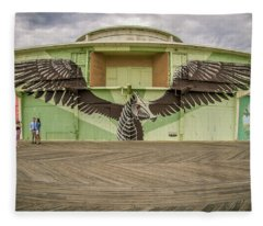 Fleece Blanket featuring the photograph Seahorse by Steve Stanger