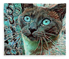 Seal Point Siamese Cat  Fleece Blanket