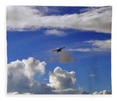 Seaplane Skyline Fleece Blanket