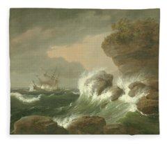 Seascape, 1835 Fleece Blanket