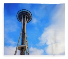 Seattle Space Needle Fleece Blanket