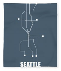 Seattle Subway Map Fleece Blanket