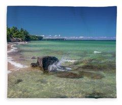 Secluded Beach Fleece Blanket