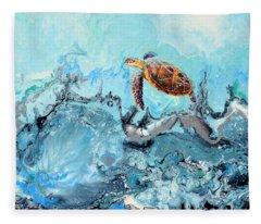 See Turtle Fleece Blanket