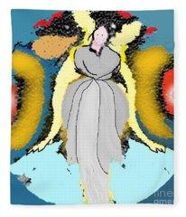 Seeing Angels Fleece Blanket