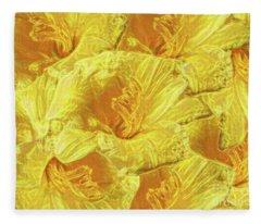 Selective Yellow Lilies Fleece Blanket