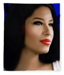 Selena Forever In Our Hearts Fleece Blanket
