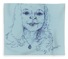 Self Portrait 2018 Fleece Blanket