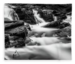 Selkefall, Harz In Monochrome Fleece Blanket