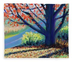 Sentinel By The Road Fleece Blanket