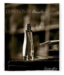 Sepia Definition Of Beauty Fleece Blanket