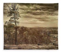 Sepia Sunset Fleece Blanket